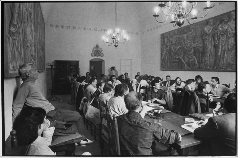 First colloquium at City Hall in Arles © Jean Dieuzaide, Collection Bernard Batais