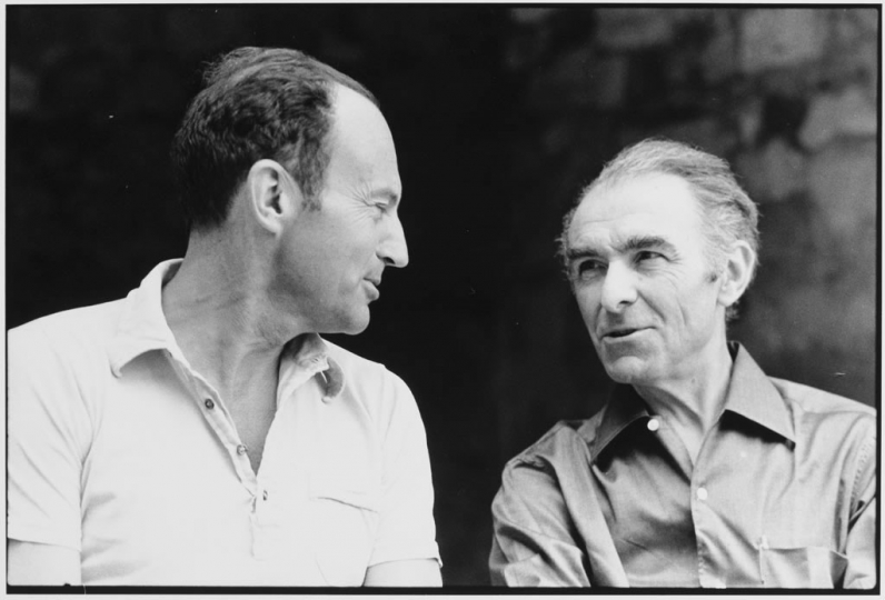 Michel Tournier, Robert Doisneau © Patrice Bouvier, collection Patrice Bouvier