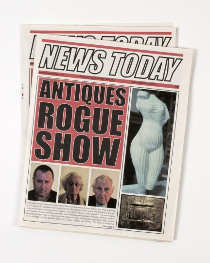 News Today - Antiques Rogue Show Newspapers rnAs seen on the Antiques Rogue Show BBC2, 2009