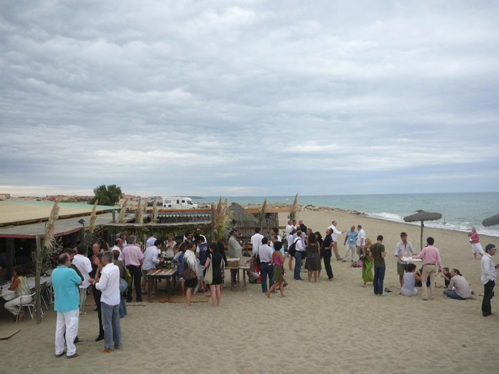 General view of paris-match event in Torreilles beach