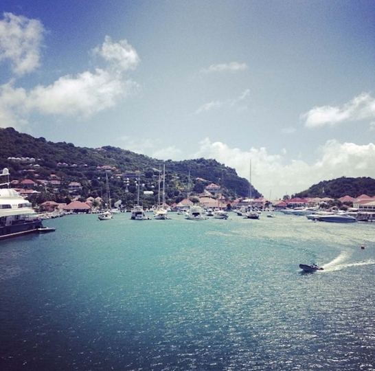 2 - Pulling into the dock in St. Barth's © Andi Potamkin