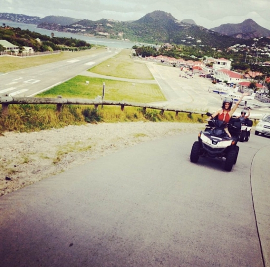 6 - Riding ATVs, which is the best way to get around the island. If you find yourself in St. Barth's, I highly recommend renting them. © Andi Potamkin