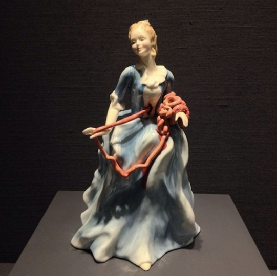 9 - Ethel by Jessica Harrison in the Body & Soul: New International Ceramics exhibit at MAD  © Andi Potamkin