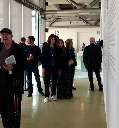 1- Anouska queuing for Henri Cartier-Bresson at Pompidou