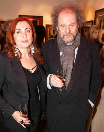 1. Vee Speers and Mike Figgis at the opening of her 'Bordello' show at The Little Black Gallery © Gabriel Lovas