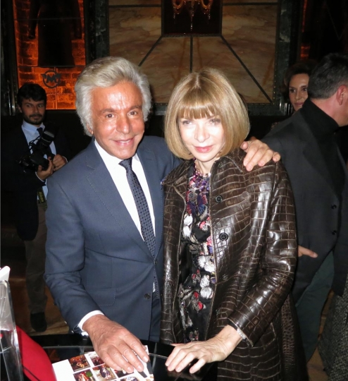 Giancarlo Giammetti and Anna Wintour at 'Private' book launch