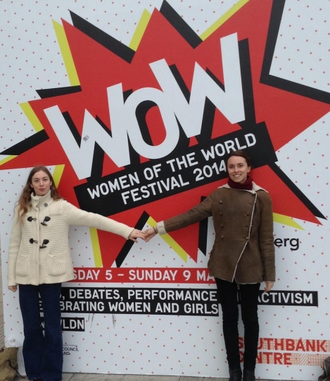 7. Anouska Beckwith & Lulu Barsotti at Women of the World Festival