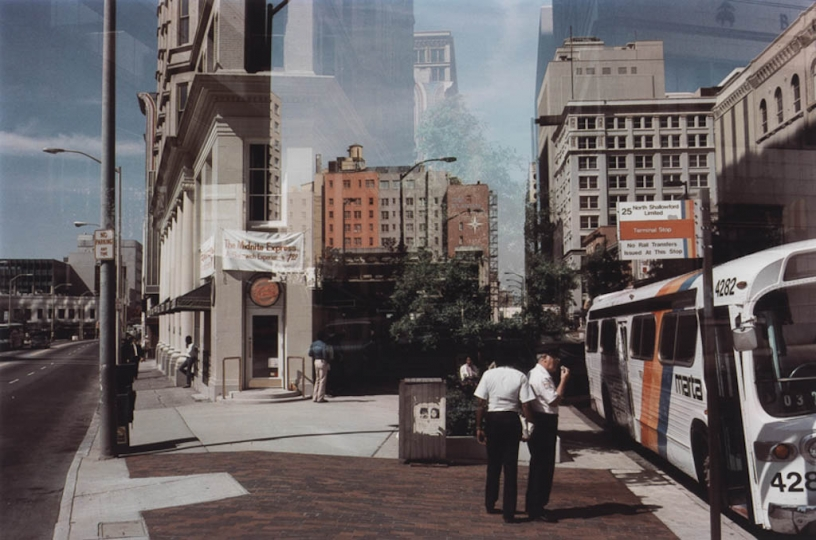 Harry Callahan, Atlanta, 1984, dye transfer print, Collection of the Vancouver Art Gallery, Gift of The Larry and Cookie Rossy Family Foundation © The Estate of Harry Callahan, Courtesy Pace_MacGill Gallery, New York