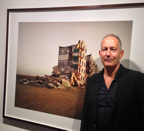 2) Nadav Kander at his 'Dust' exhibition at Flowers East Galleryrn