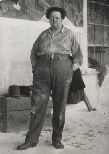 7) Diego Rivera, 1933, by unknown photographer, at 'Other Portraits' exhibition at Daniel Blaurn
