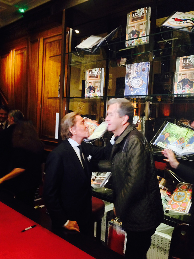Valentino with Mario Testino at the launch of 'At The Emperor's Table' @ Assouline