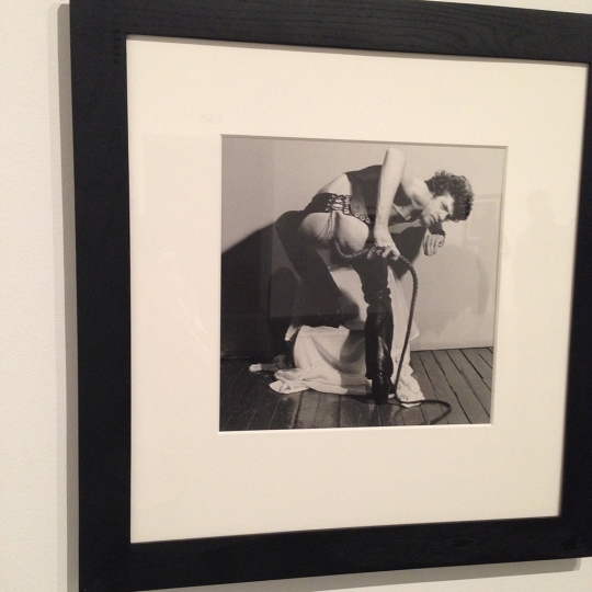 Robert Mapplethorpe with bull-whip @ Tate Modern rn