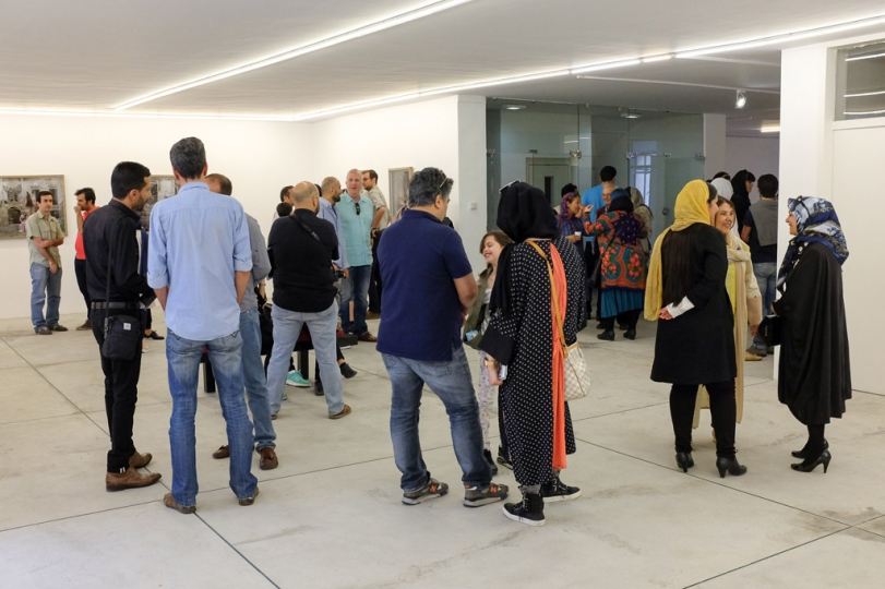 All about me, Nicknamed Crown Giver by Tahmineh Monzavi - Exhibition Opening at Silkroad Gallery
