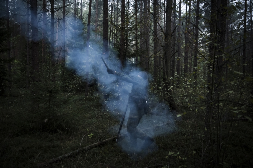 © Mattia Vacca Young recruits train in the forests in Central Lithuania.