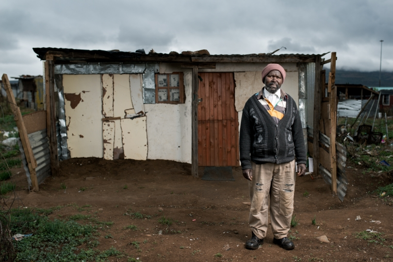 Mthuthuzeli Mtshange is 58 years old and worked in the gold mines for 35 years. He has silicosis and received no Compensation