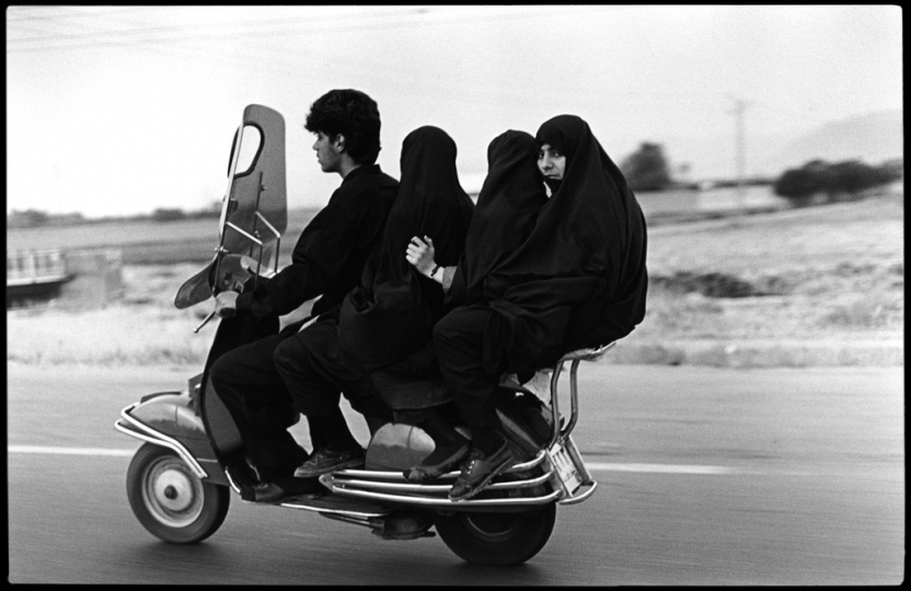 Shahr Rey. Four seater motorbike. 1997 © Abbas / Magnum Photos