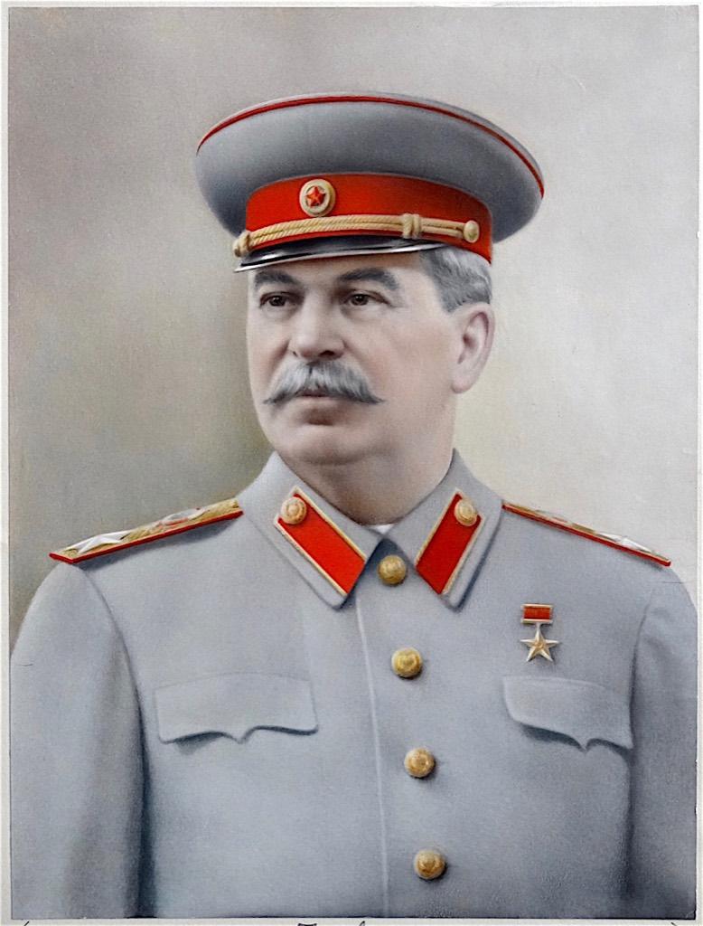 "Propaganda Portrait : Joseph Stalin, ""Father of Nations"