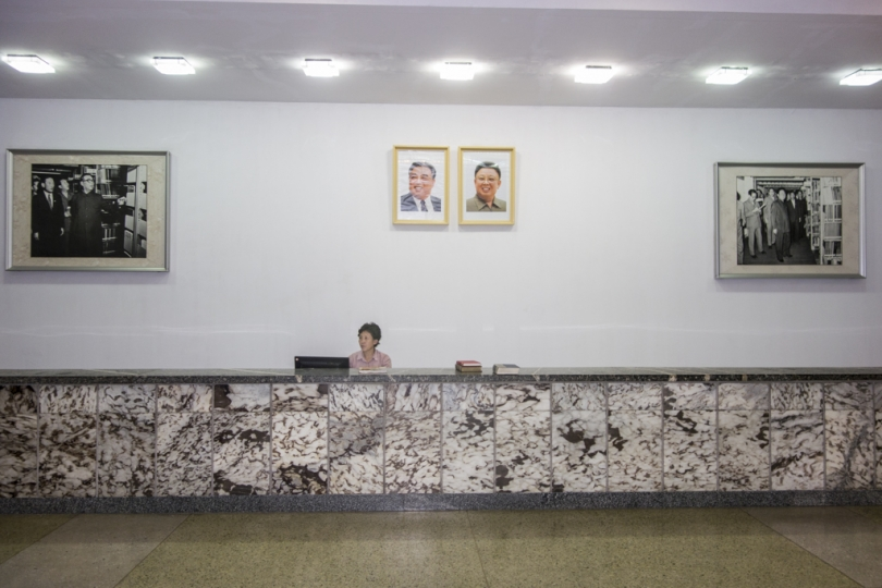 Librarian in the Peoples Study House, Pyongyang, North Korea