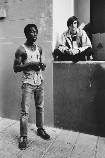 © Anthony Friedkin, Young Hustlers Selma Ave Hollywood 1971