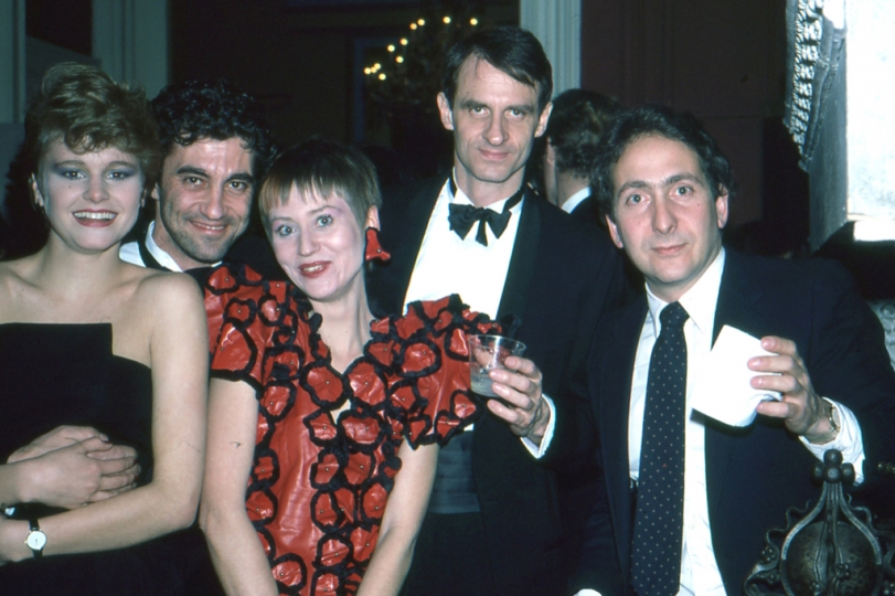 Bill Ewing and Anna Walker partying with Canadian friends. Photo: Robert Walker