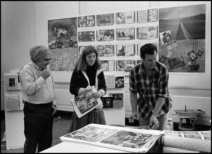 Cornell Capa (left), Caroline Bouvier Kennedy (center) with Beard.