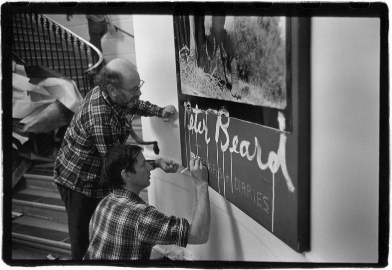 Installation designer Marvin Israel (left) and Peter Beard