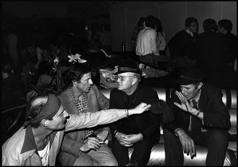Truman Capote with Beard at Studio 54 during Beard's 40th birthday party