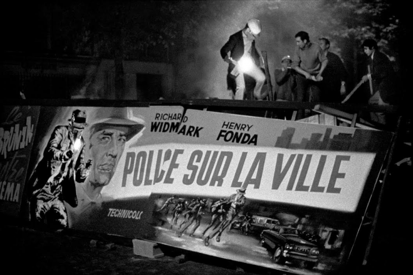 FRANCE. 24/05/68 Barricade built out of movie posters © Bruno Barbey - Magnum Photos