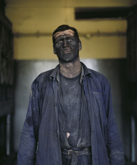 Darek Fortas, Portrait I (Miners After Work), from the series Coal