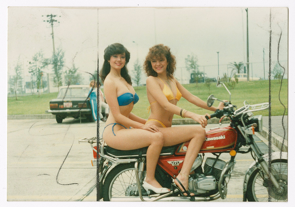 Two Miss Motorcyclists, 1986