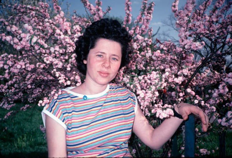 Karen and Cherry Blossoms ,from Mommie- Three Generations of Women © Arlene Gottfried & Daniel Cooney Fine Art Gallery