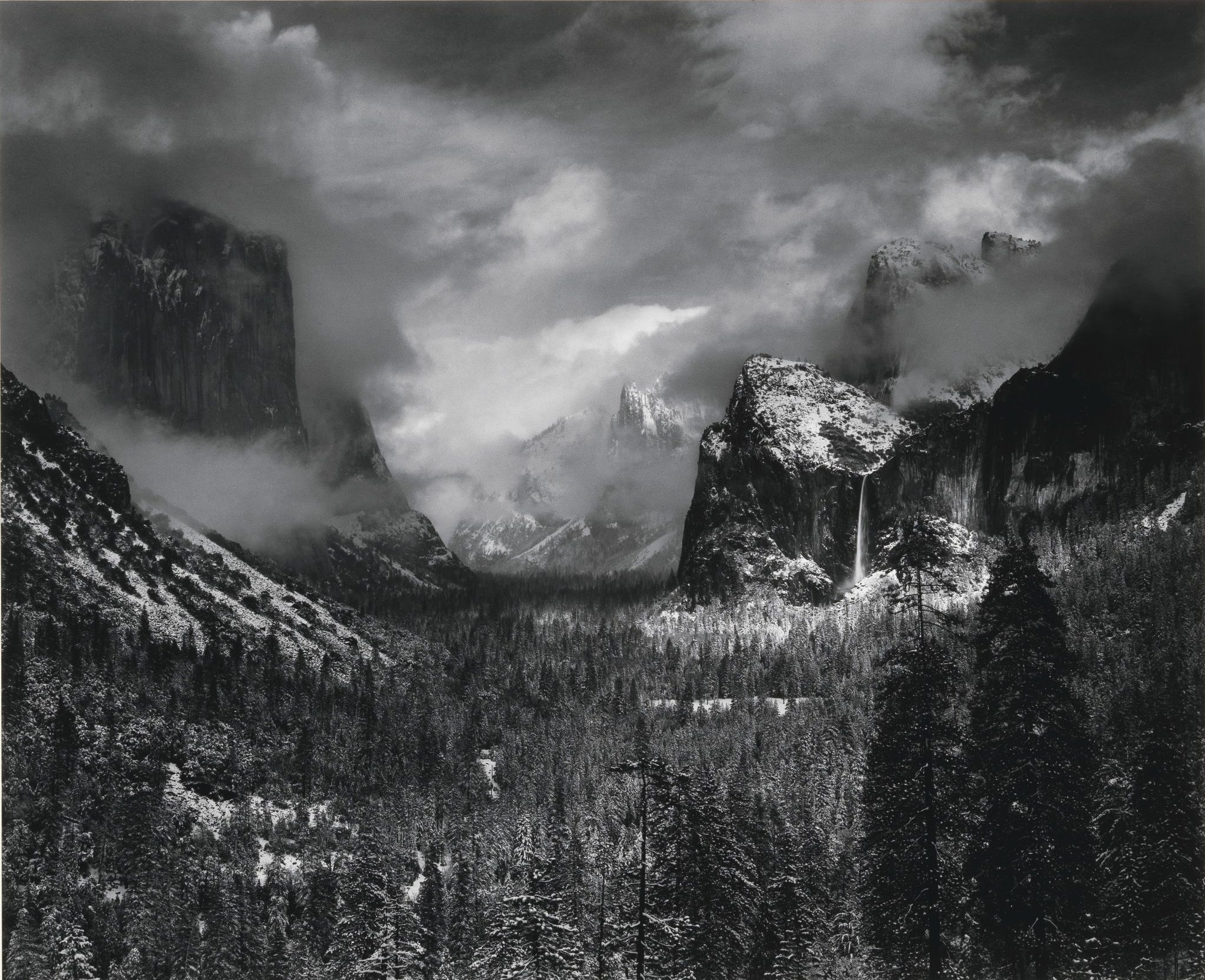 Ansel Adams, Clearing Winter Storm, Yosemite National Park, California, 1938 © Ansel Adams & MoMA