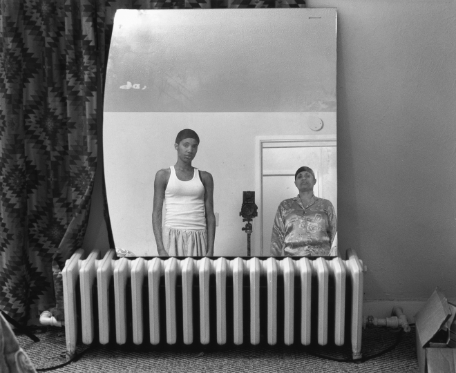 LaToya Ruby Frazier, Mom Making an Image of Me, from the series The notion of Family, 2008 © La Toya Ruby Frazier