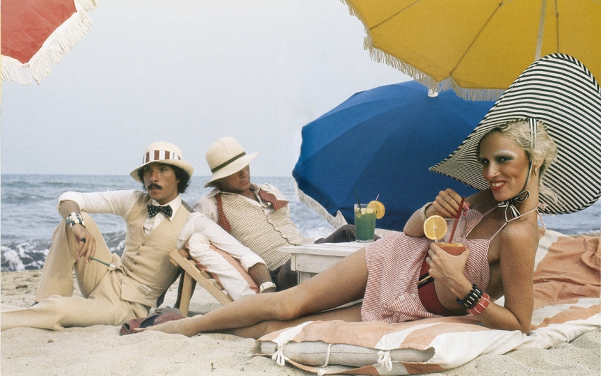 Antonio Lopez, Corey Tippin and Donna Jordan, Saint-Tropez, 1970. Photograph by Juan Ramos. © Copyright The Estate of Antonio Lopez and Juan Ramos, 2012