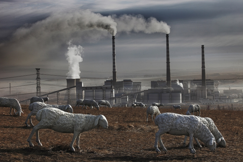 Holigola Power Plant and Industrial Park Inner Mongolia 2012 © Lu Guang