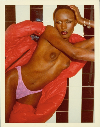Grace Jones (from Black and White Shower series), Paris, 1975. Photograph by Antonio Lopez. © Copyright The Estate of Antonio Lopez and Juan Ramos, 2012