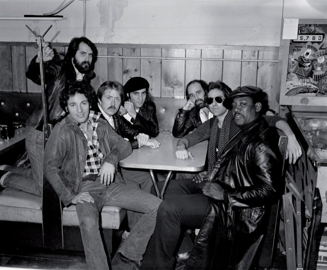 Bruce Springsteen and the original E Street Band at Shellow's Luncheonette, East Camden, NJ, 1978