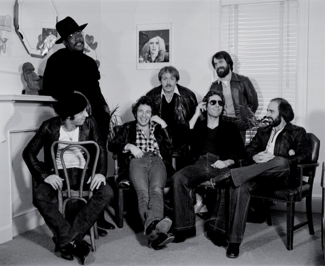 Bruce Springsteen and the E Street Band in Frank Stefanko's living room, Haddonfield, NJ, 1978