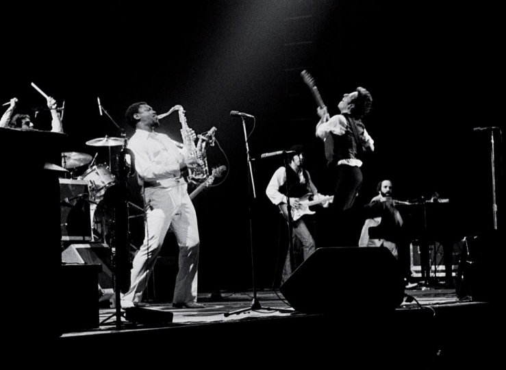 Bruce Springsteen and the E Street Band in full swing at the Spectrum, Philadelphia, PA, 1978.
