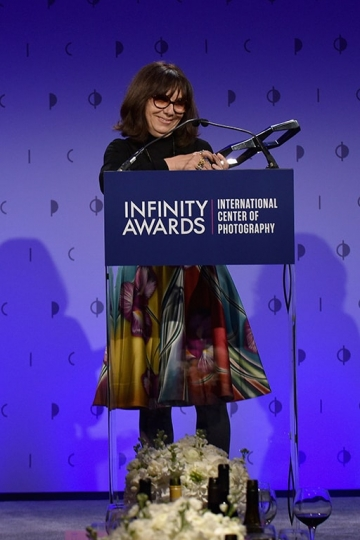 Sophie Calle, 33th ICP Awards, New York, April 25, 2017 © International Center of Photography