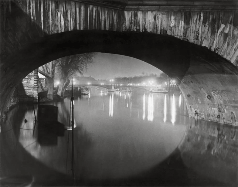 Brassai, View of the Pont Royal toward the Pont Solférino, 1933 © Estate Brassai Succession