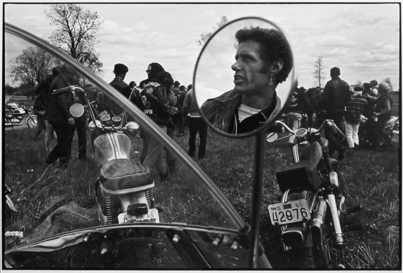 Cal, Elkhorn, Wisconsin, 1966 from The Bikeriders © Danny Lyon / Magnum Photos Courtesy Etherton Gallery
