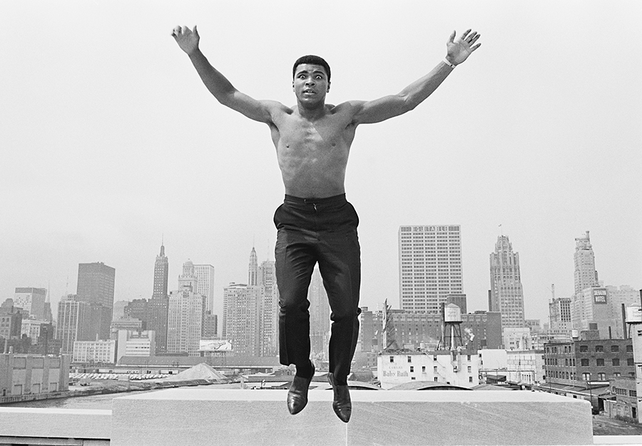 Thomas Hoepker, Ali jumping from a bridge over Chicago River, 1963, Archival Pigment Print, 110 x 165 cm, Edition of 7. Last print in this size