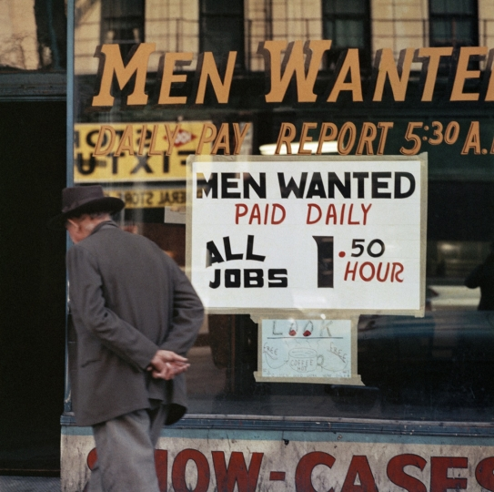 'Men Wanted Shopfront, Chicago, 1966' © Mario Carnicelli