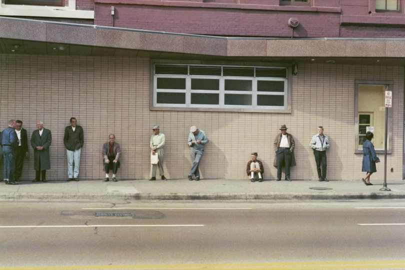 'Waiting queue at job centre, Chicago, 1966 © Mario Carnicelli