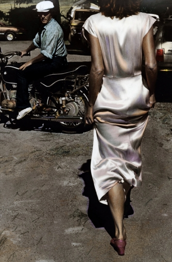 Silk Dress Coming 1982 © Ann Rhoney