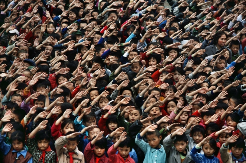 September, 1985. Shaanxi Province, China. Children in the Nanguai Primary School in Yan'an.
