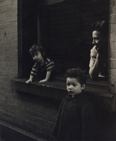 Mother and Two Sons at Window, New York City, ca. 1945 © Sandra Weiner