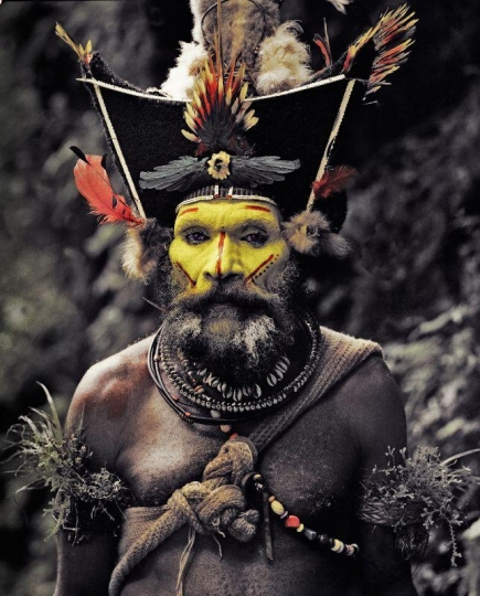 XV 65 - Kati Hirawako - Huli Wig men - Ambua Falls, Tari Valley - Papua New Guinea, 2010 © Jimmy Nelson