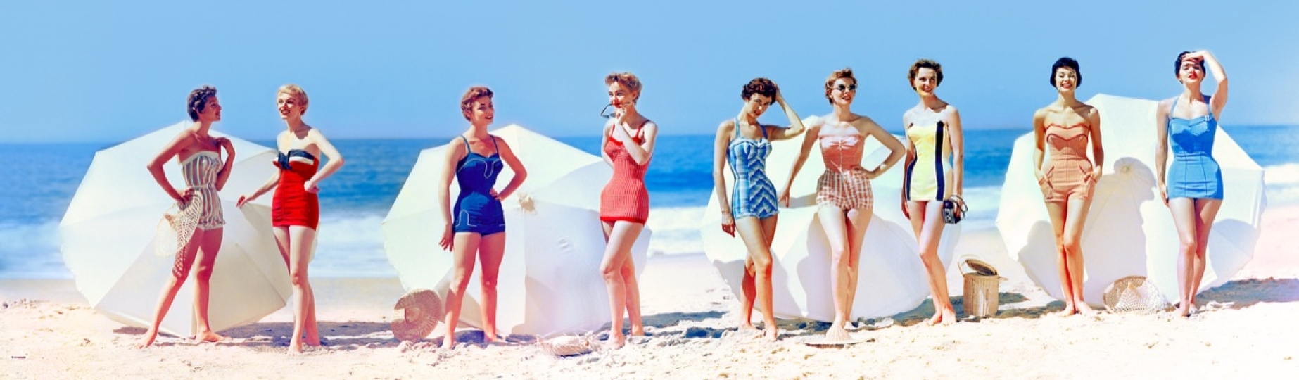 Fashions in Chromspun swimsuits 1954 © Peter Gales